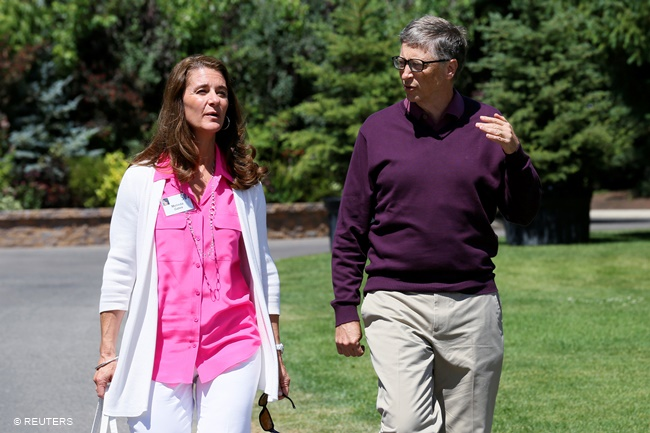 Bill at Melinda Gates