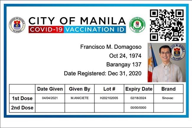 COVID ID VACCINATION CARD